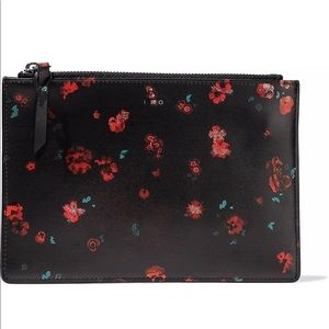 NWT IRO Micro Pouch in Black Roses